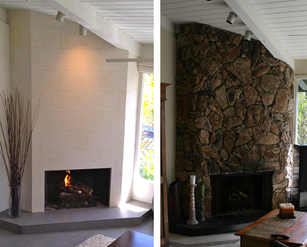 fireplace old & new