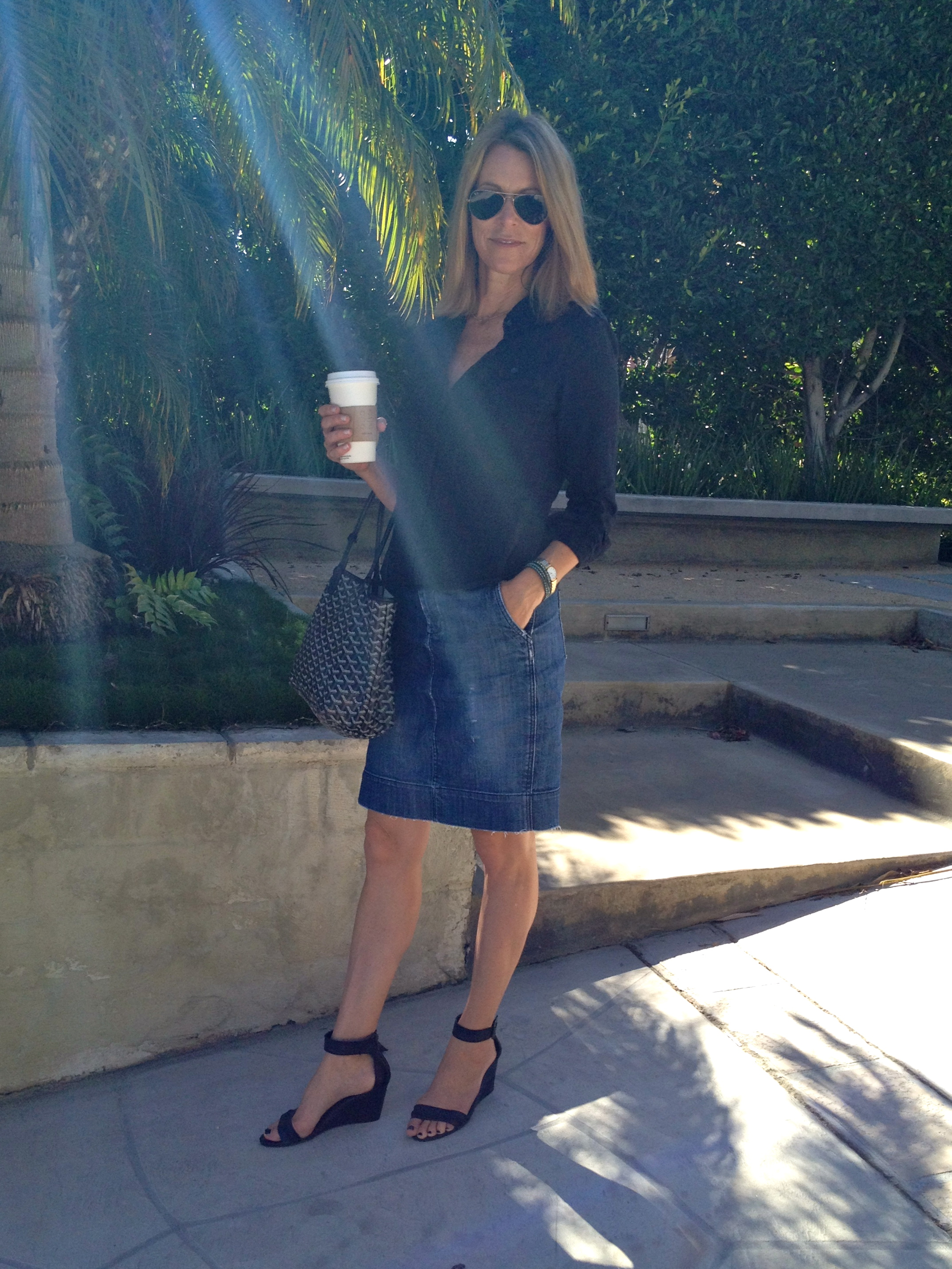 Diy How To Distress Your Denim Skirt Trace Style