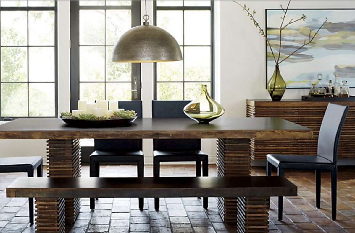 Modern But Comfy Dining Chairs Trace Style Create Live - Crate and barrel leather dining chair